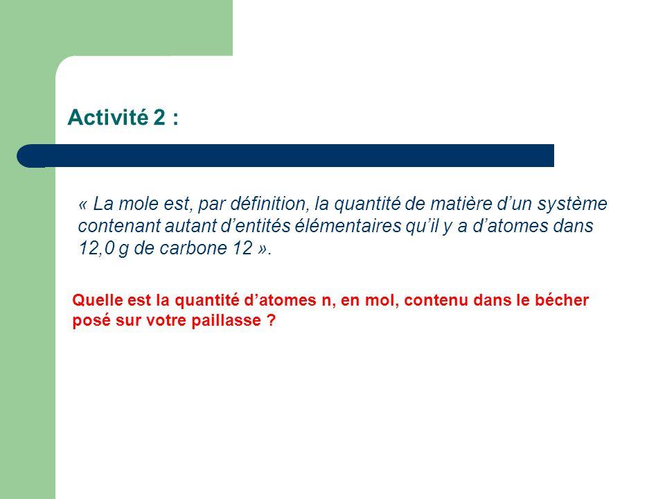 Activité 2 :