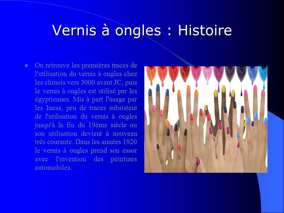 Vernis à ongles : Histoire