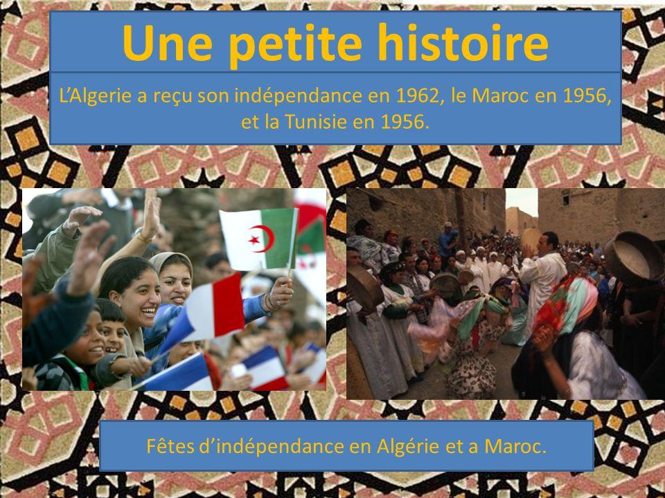 Fêtes d'indépendance en Algérie et a Maroc.