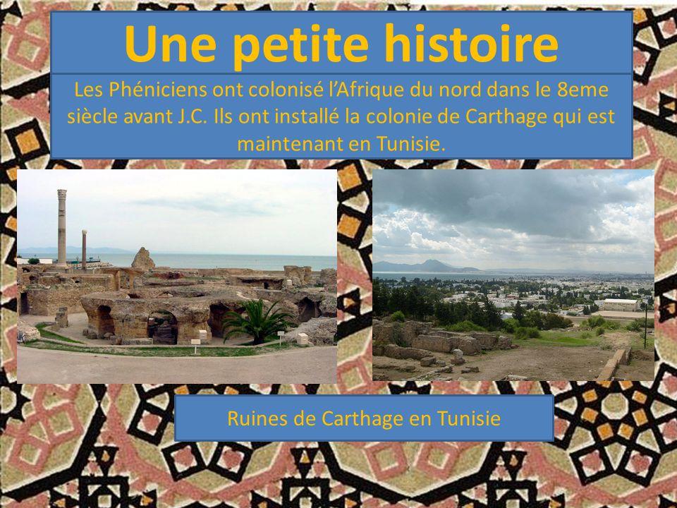 Ruines de Carthage en Tunisie