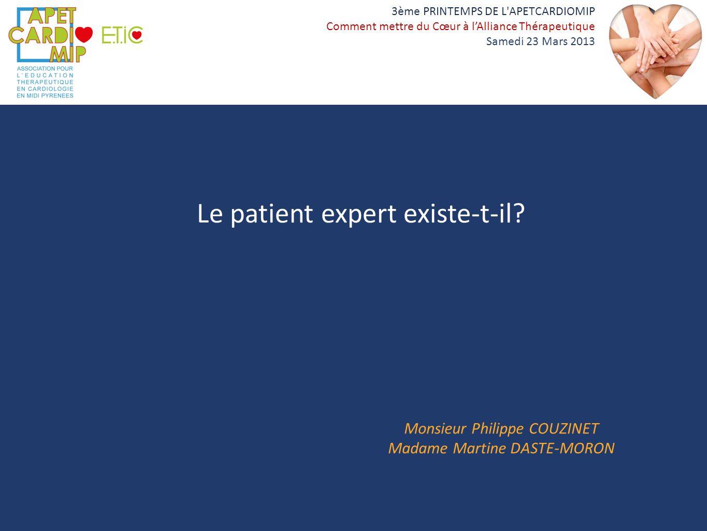 Le patient expert existe-t-il