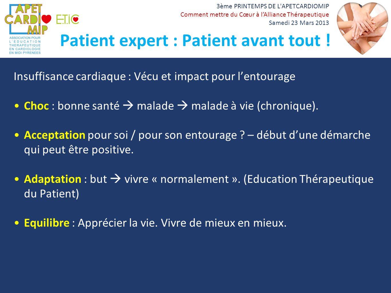 Patient expert : Patient avant tout !
