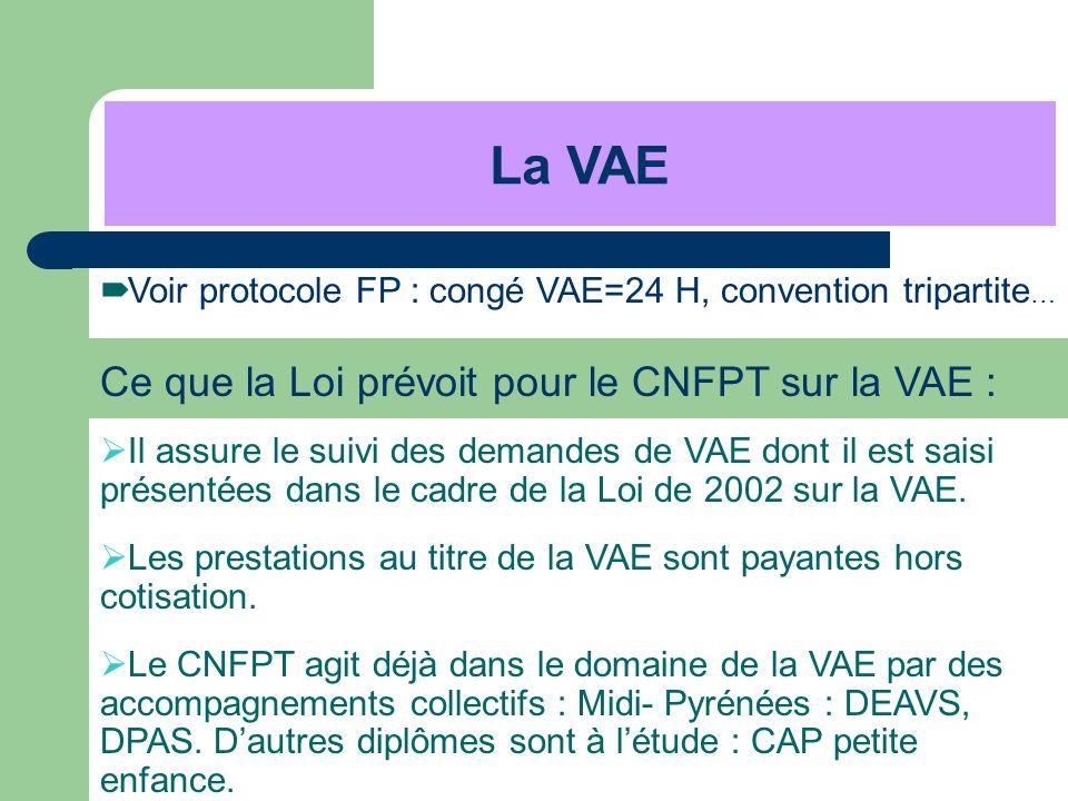 La VAE Ce que la Loi prévoit pour le CNFPT sur la VAE :