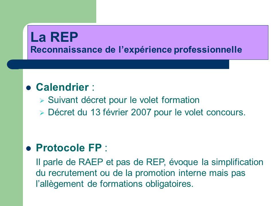 La REP Reconnaissance de l'expérience professionnelle