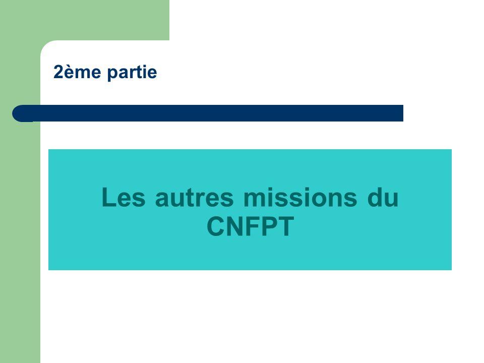 Les autres missions du CNFPT