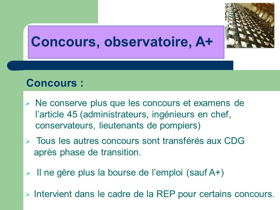 Concours, observatoire, A+