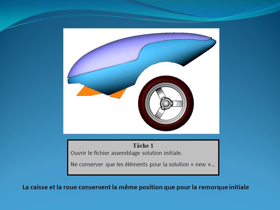 Tâche 1 Ouvrir le fichier assemblage solution initiale. Ne conserver que les éléments pour la solution « new »…