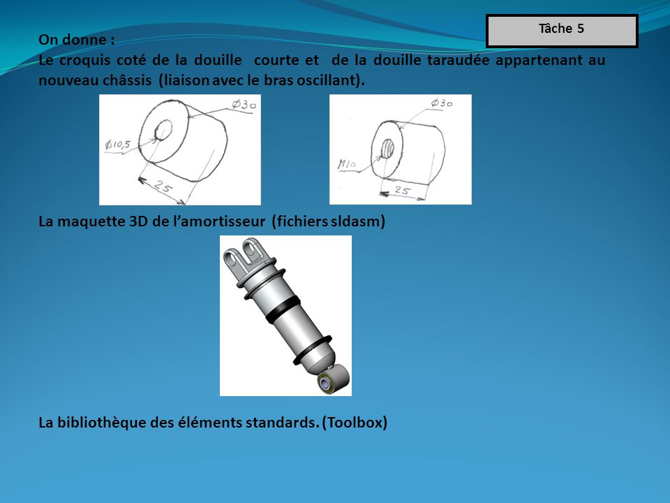 La maquette 3D de l'amortisseur (fichiers sldasm)