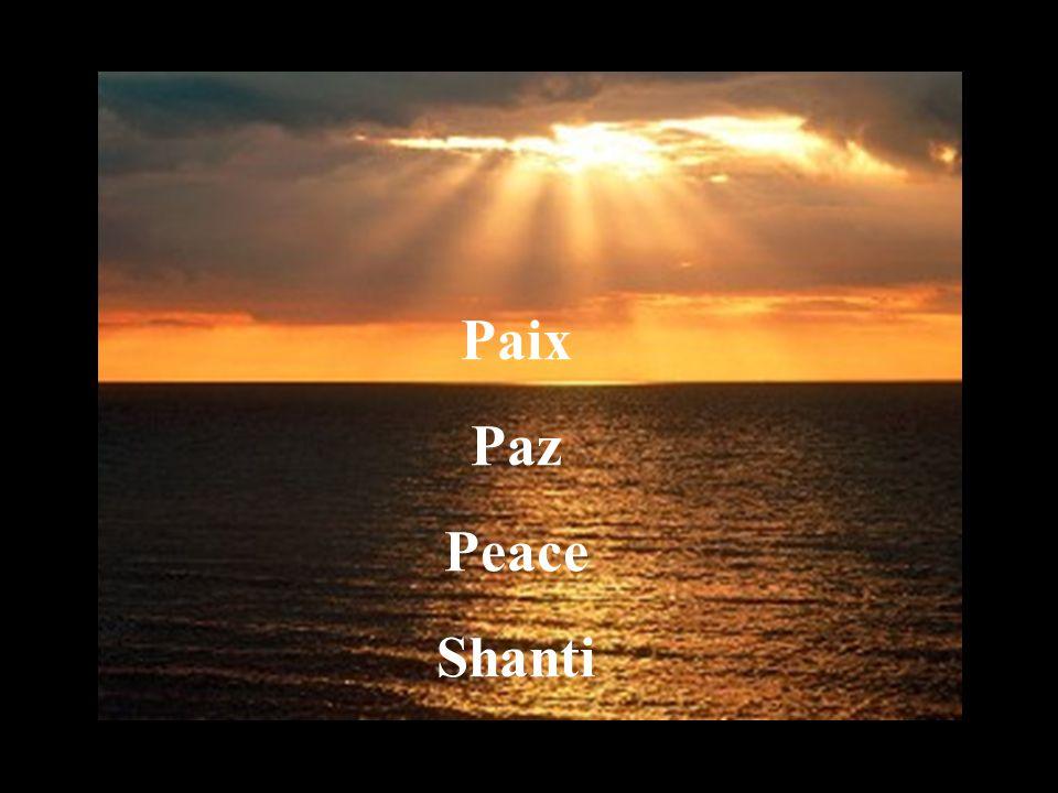 Paix Paz Peace Shanti