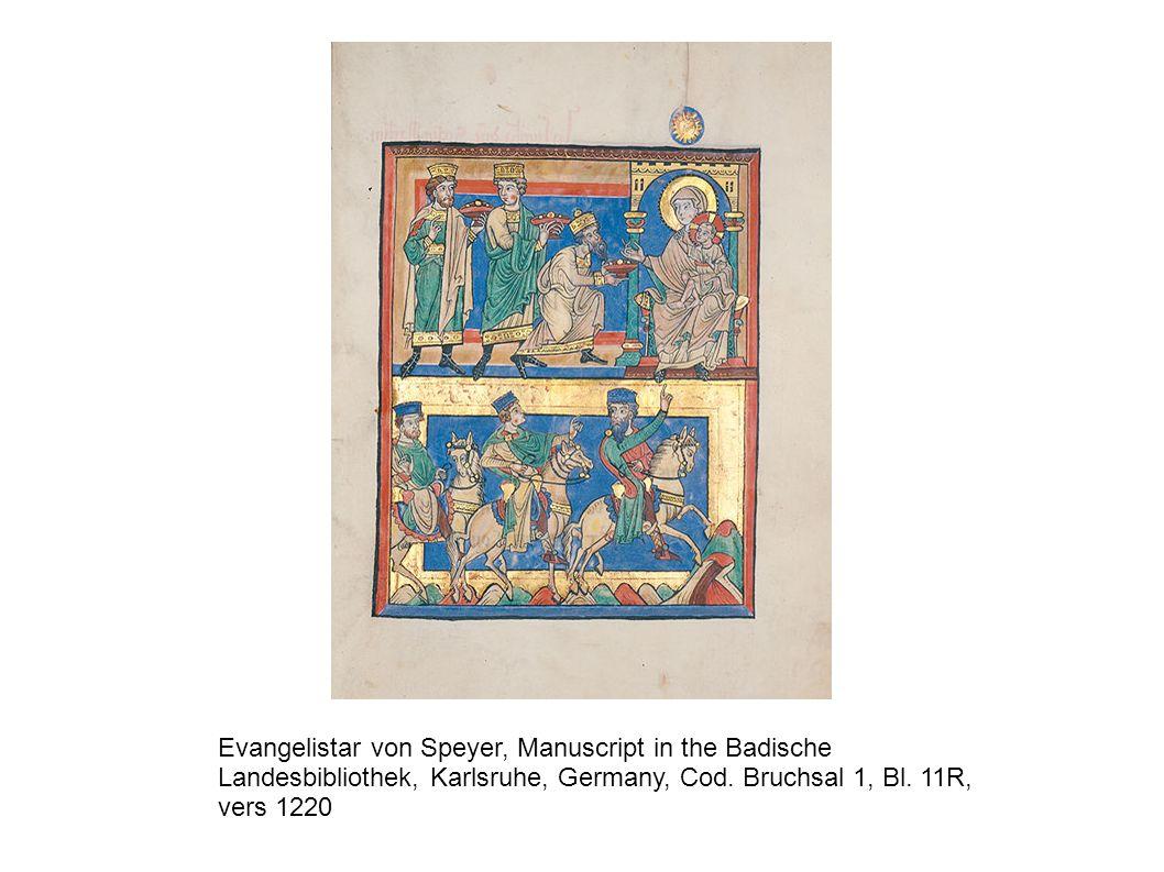 Evangelistar von Speyer, Manuscript in the Badische Landesbibliothek, Karlsruhe, Germany, Cod.
