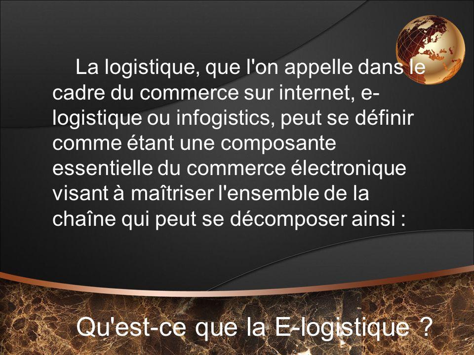 Qu est-ce que la E-logistique