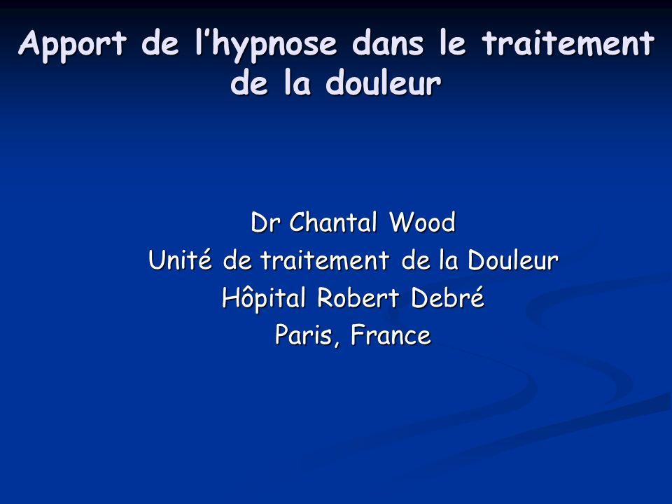 Apport de l'hypnose dans le traitement de la douleur