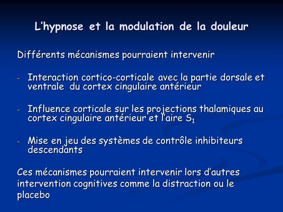 L'hypnose et la modulation de la douleur