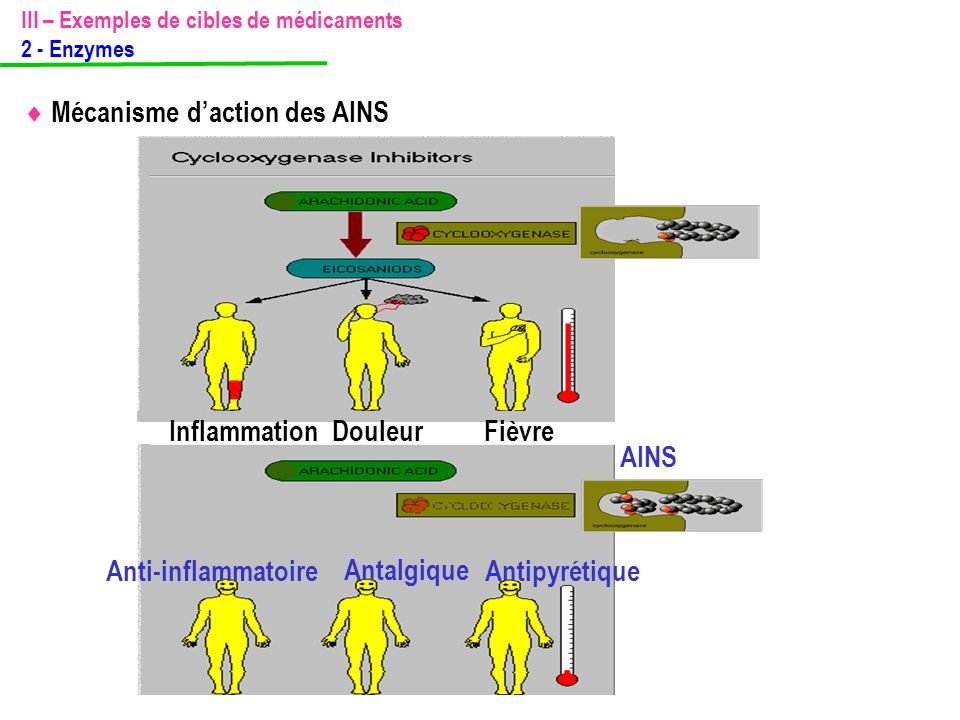 Inflammation Douleur Fièvre AINS Anti-inflammatoire Antalgique