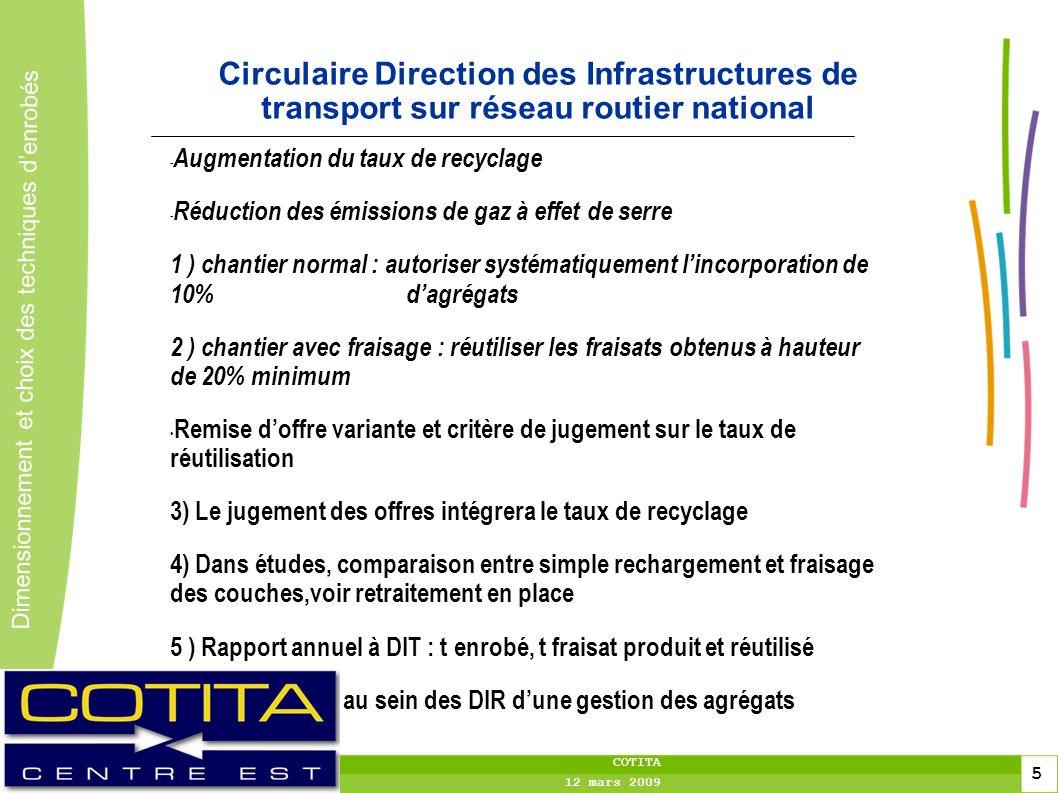 toitototototoot Circulaire Direction des Infrastructures de transport sur réseau routier national. Augmentation du taux de recyclage.