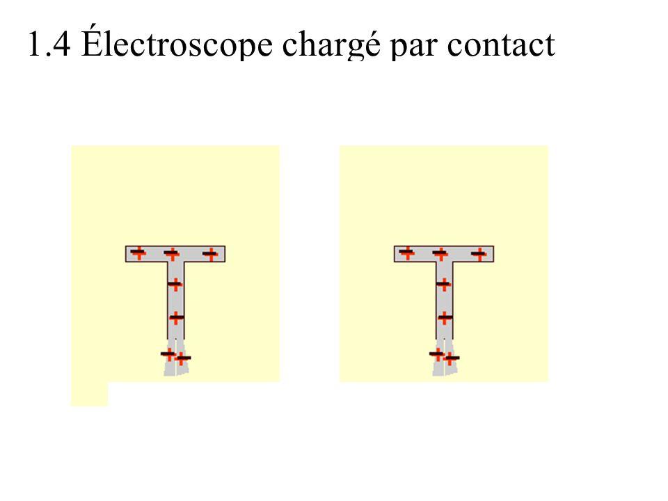 1.4 Électroscope chargé par contact