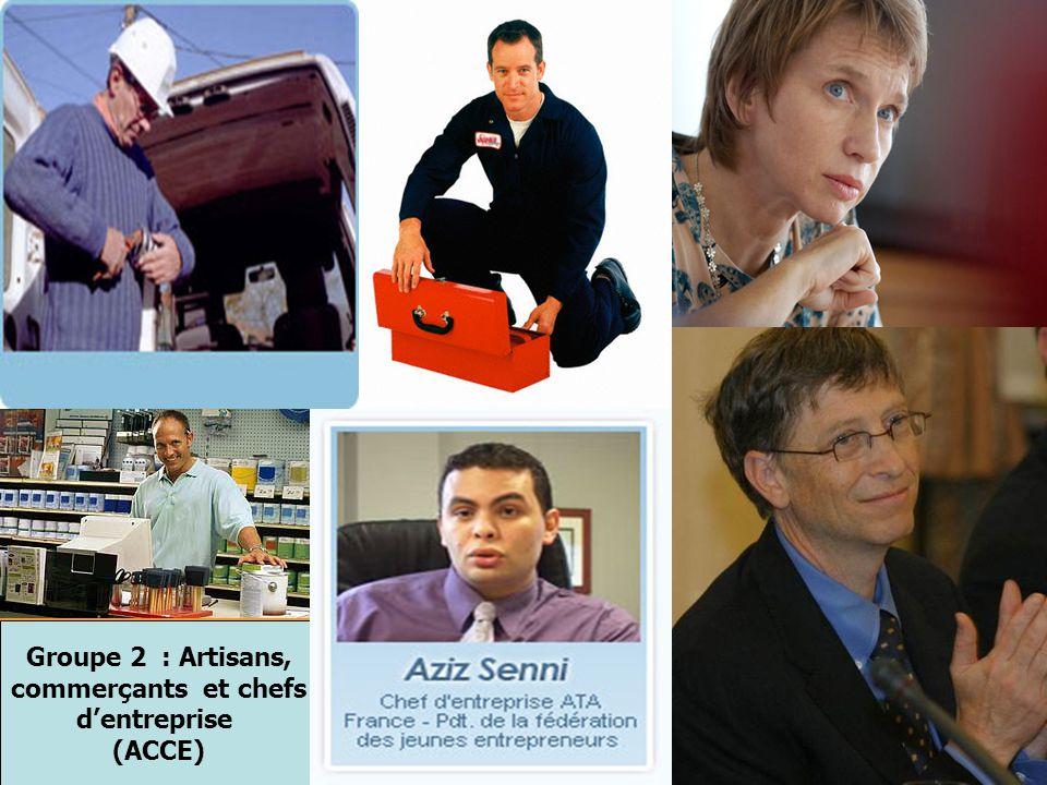 Groupe 2 : Artisans, commerçants et chefs d'entreprise (ACCE)