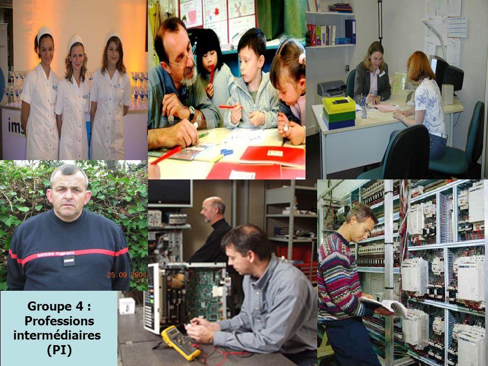 Groupe 4 : Professions intermédiaires (PI)