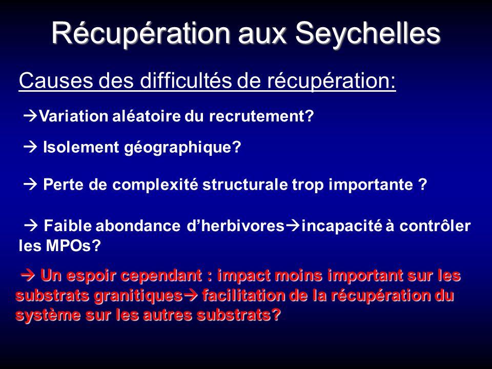 Récupération aux Seychelles