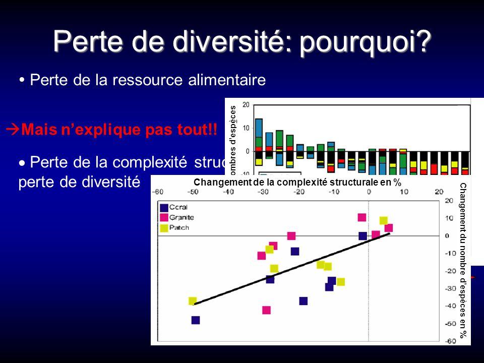 Perte de diversité: pourquoi