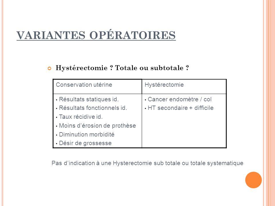 VARIANTES OPÉRATOIRES