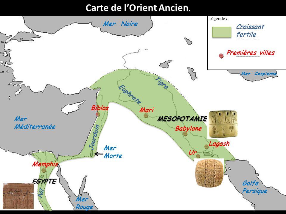 Carte de l'Orient Ancien.