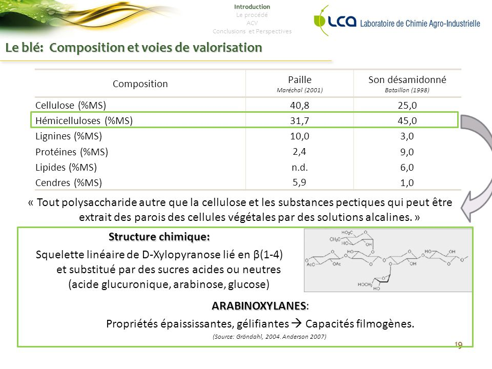 Le blé: Composition et voies de valorisation