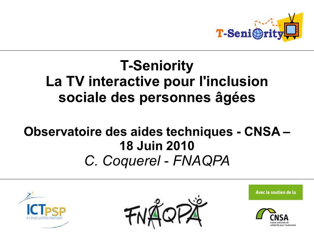 Observatoire des aides techniques - CNSA – 18 Juin 2010