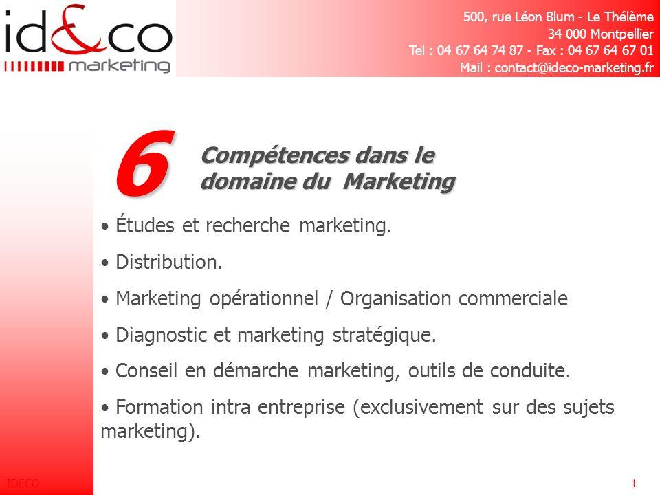 6 Compétences dans le domaine du Marketing