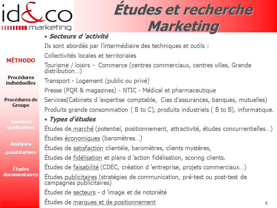 Études et recherche Marketing
