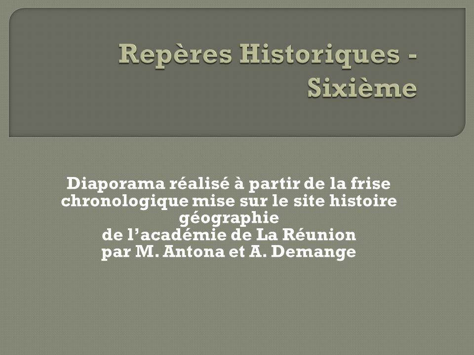 Repères Historiques - Sixième