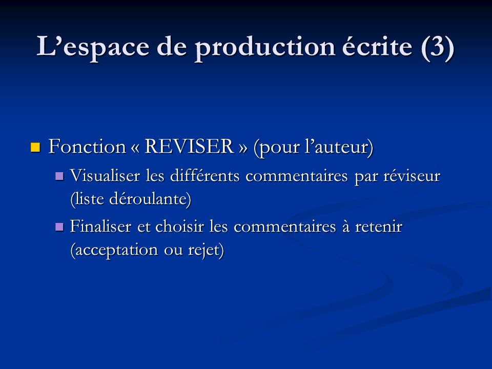L'espace de production écrite (3)