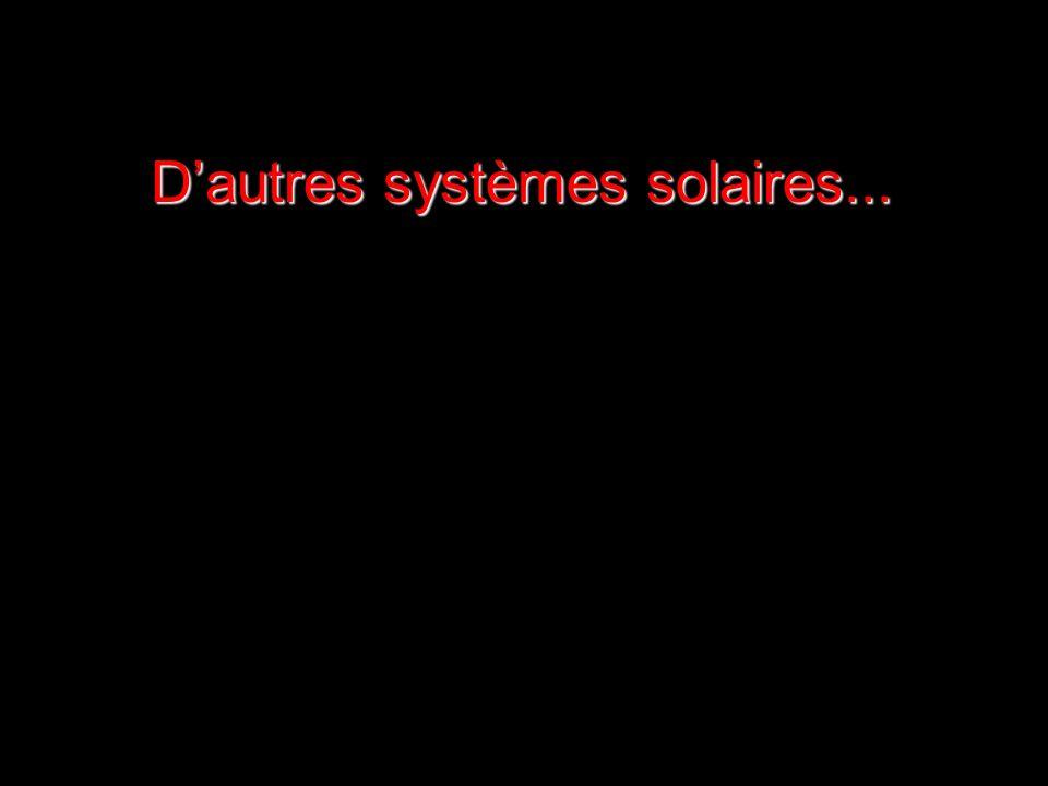 D'autres systèmes solaires...