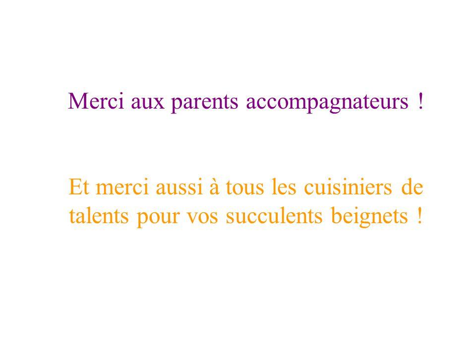 Merci aux parents accompagnateurs !