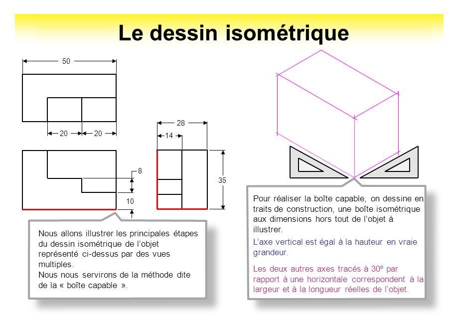 Le dessin isométrique 20. 50. 10. 8. 14. 28. 35.