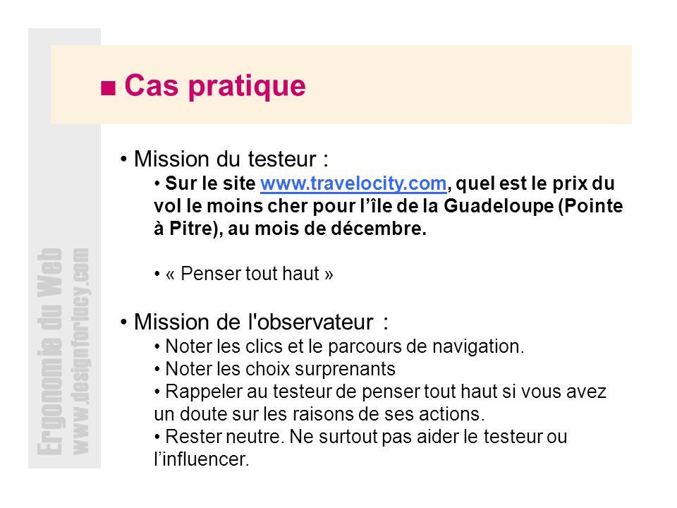 Mission de l observateur :