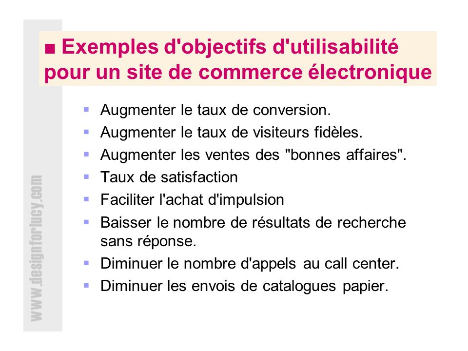 Augmenter le taux de conversion.
