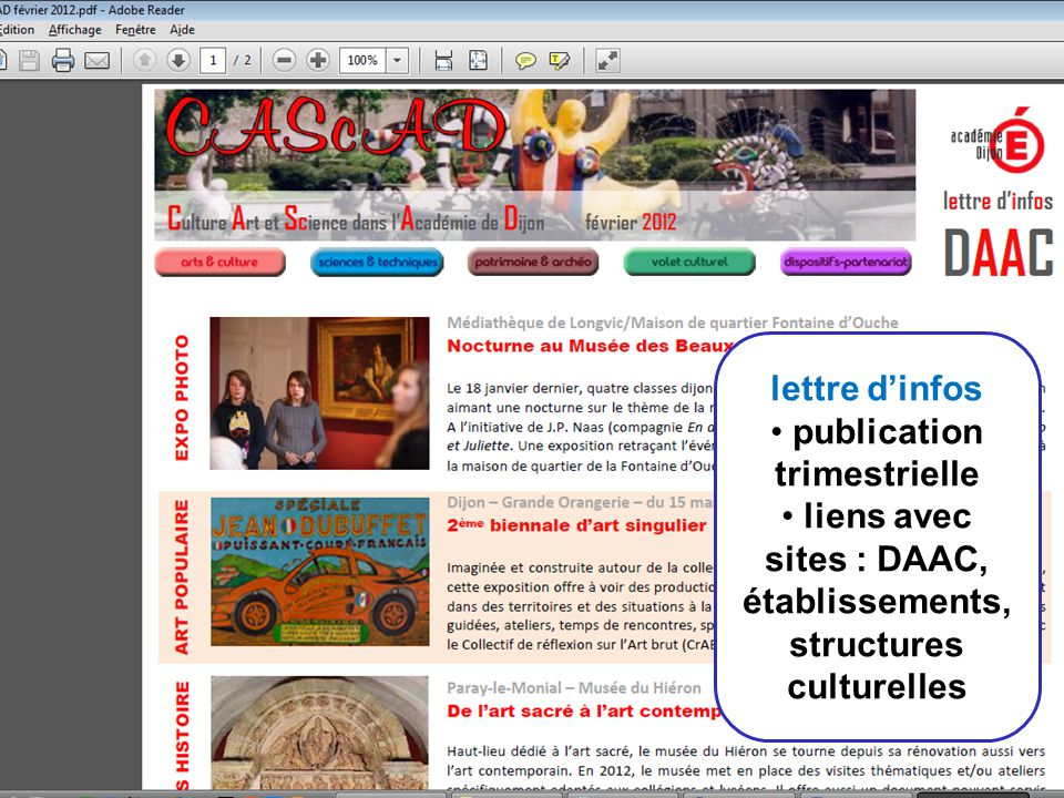 publication trimestrielle