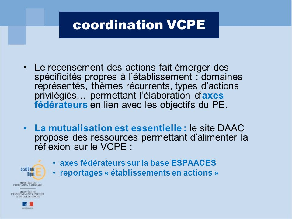 coordination VCPE