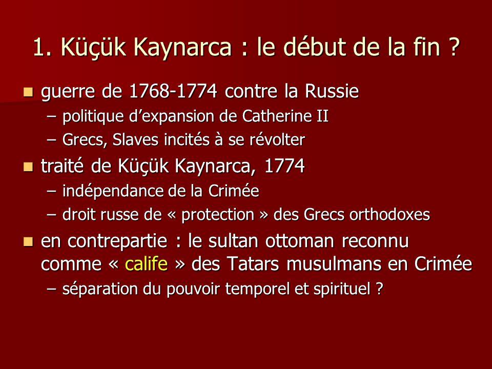 1. Küçük Kaynarca : le début de la fin
