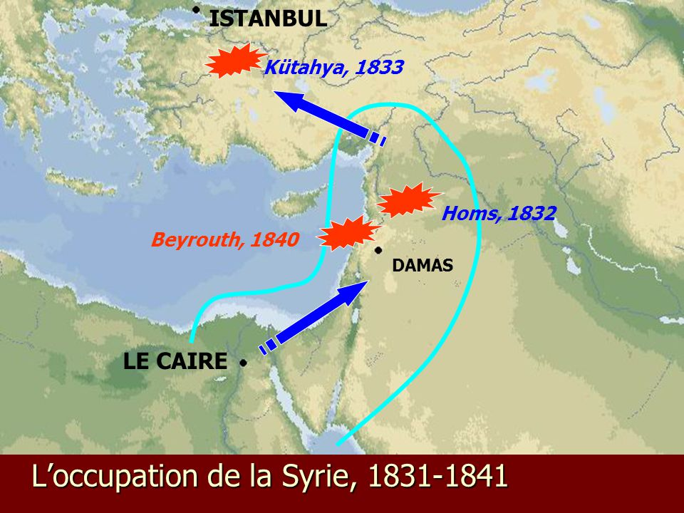 L'occupation de la Syrie, 1831-1841
