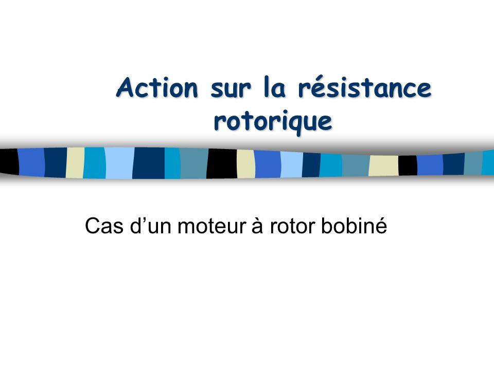 Action sur la résistance rotorique