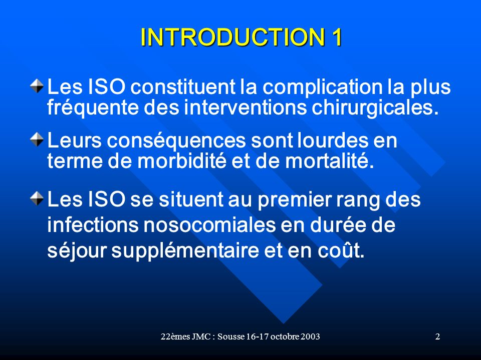 22èmes JMC : Sousse 16-17 octobre 2003