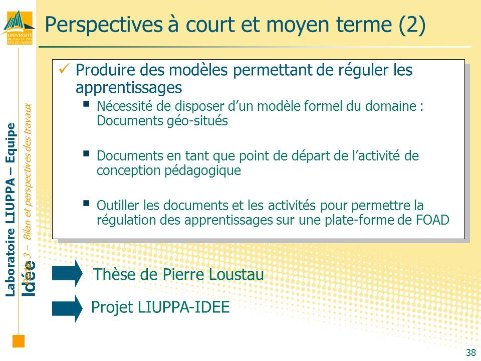 Perspectives à court et moyen terme (2)