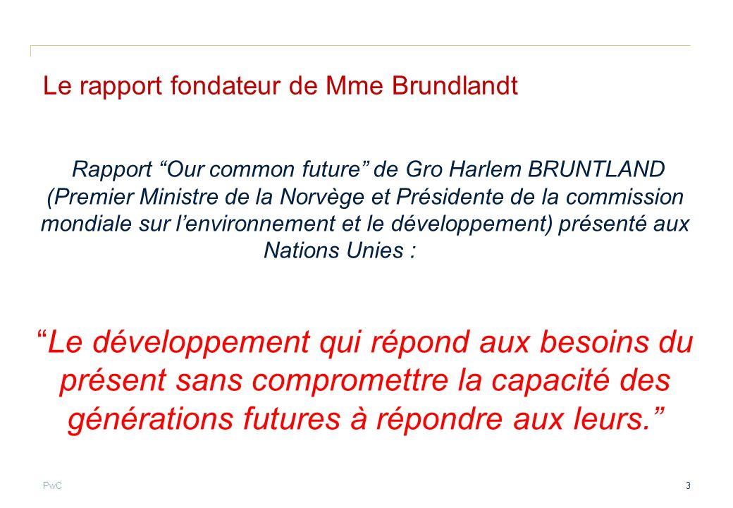 Le rapport fondateur de Mme Brundlandt