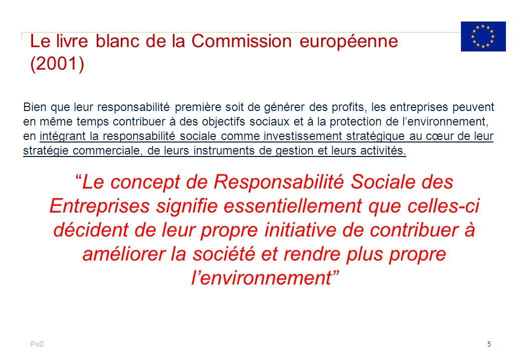 Le livre blanc de la Commission européenne (2001)