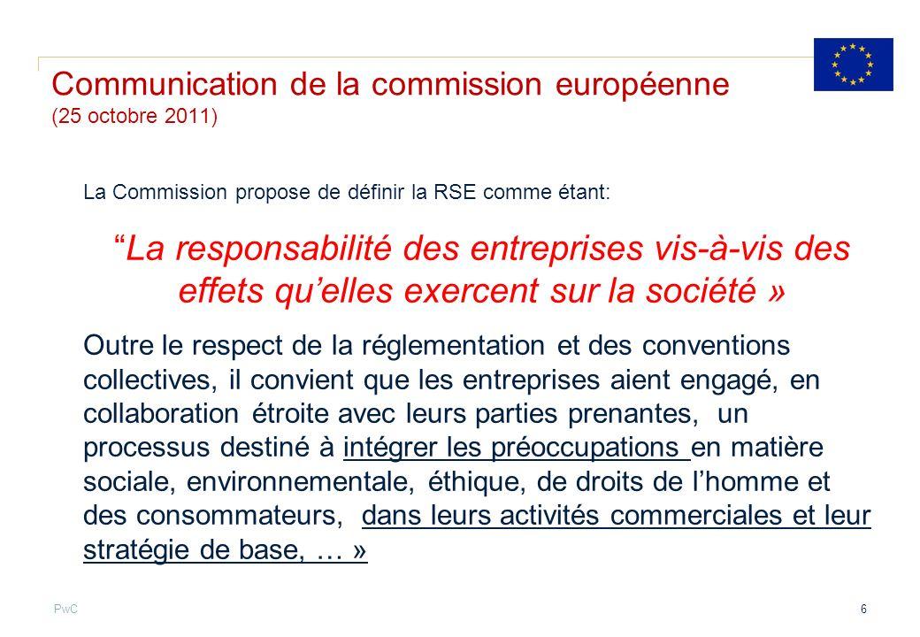 Communication de la commission européenne (25 octobre 2011)