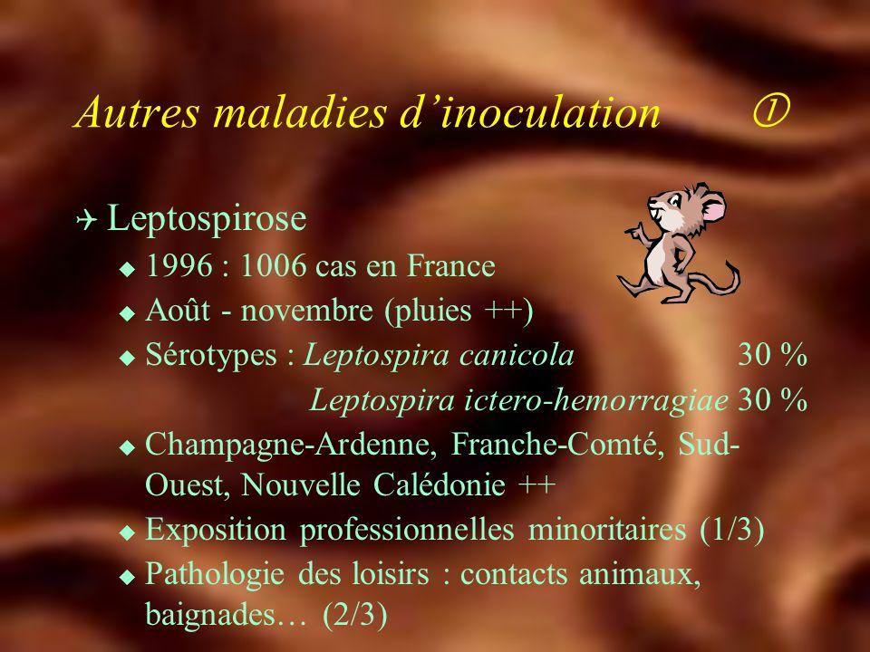 Autres maladies d'inoculation 