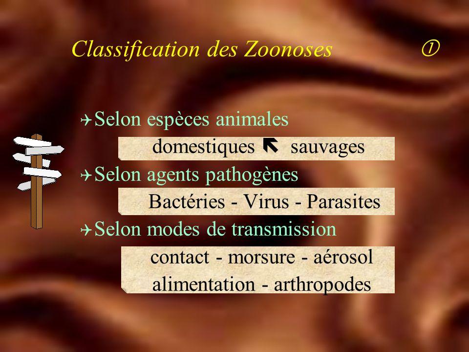 Classification des Zoonoses 
