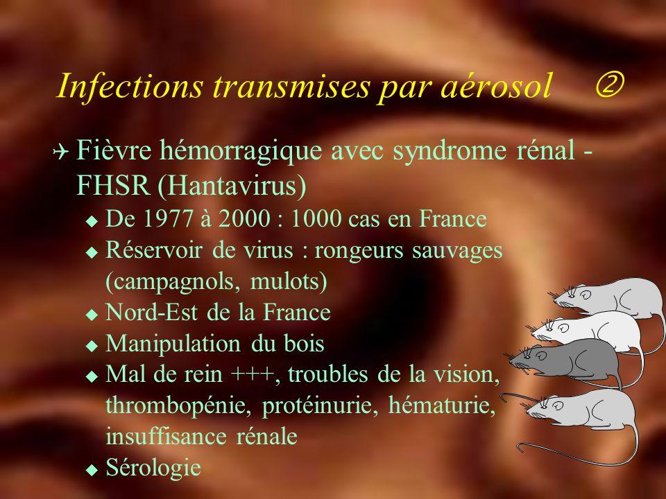 Infections transmises par aérosol 